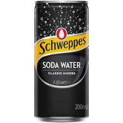Schweppes Soda Water 200ml Pack of 24