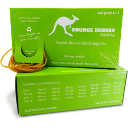 BOUNCE RUBBER BANDS® SIZE 63 100GM BOX