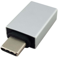Shintaro USB-C Male to USB-A Female Adaptor Silver