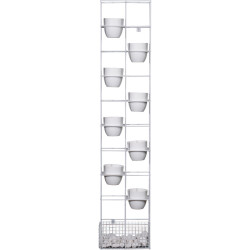 Rapid Bloom Vertical Garden 1935Hx390Wx210mmD includes 8 Pots and Polished Stone