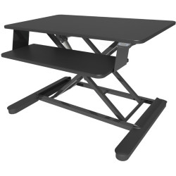 Elevar Maxishift-E Electric Lift Desk Top Sit Stand Unit Black