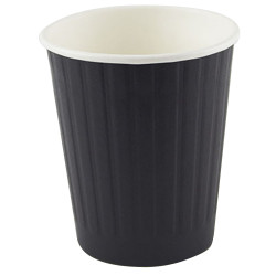 Writer Disposable Double Wall Paper Cups 237ml 8oz Box of 500 Black