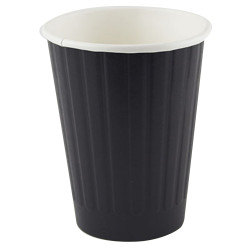 Writer Disposable Double Wall Paper Cups 355ml 12oz Box of 500 Black