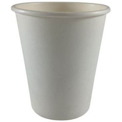Writer Disposable Single Wall Paper Cups 237ml 8oz Box of 1000 White