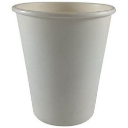 Writer Disposable Single Wall Paper Cups 355ml 12oz Box of 1000 White