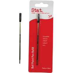 Stat Ballpoint Pen Refill Cross Compatible Medium Pack of 10 Black