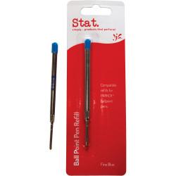 Stat Ballpoint Pen Refill Parker Compatible Fine Pack of 10 Blue