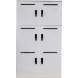 Go Steel Office Locker 6 Compartments 1345Hx800Wx486D With Mail Slot and Shelf W