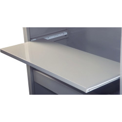 Steelco Tambour Door Pull Out Reference Shelf Suits 1200W Unit Satin Silver
