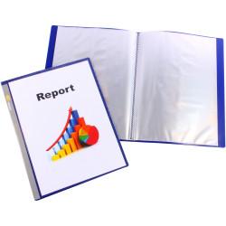 Bantex Insert Display Book A4 40 Fixed Pockets Navy