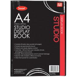 Jasart Studio Display Book A4 20 Pockets Black