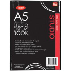 Jasart Studio Display Book A5 20 Pockets Black