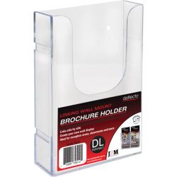Deflect-O Brochure Holder DL Single Tier Wall Mount Linking