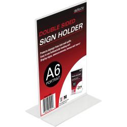 Deflect-O Sign Menu Holder Double Sided A6 Portrait