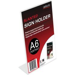 Deflect-O Sign Menu Holder Slanted A6 Portrait Strut Card Holder