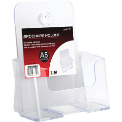 Deflect-O Brochure Holder A5 Single Tier Free Standing And Wall Mount
