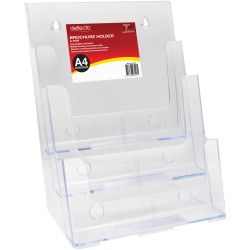 Deflect-O Brochure Holder A4 3 Tier Free Standing And Wall Mount