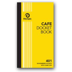 Olympic 401 Docket Book Single 70x125mm Cafe 100 Leaf