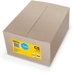 Tudor Plain Envelopes Pocket C5 Peel N Seal Kraft Gold Box of 500