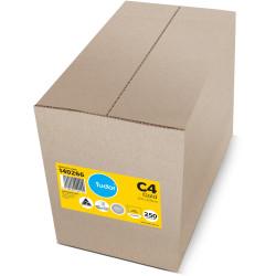 Tudor Plain Envelope Pocket C4 Peel N Seal Kraft Gold Box Of 250
