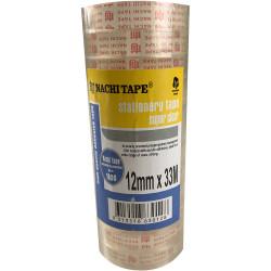 Nachi Stationery Tape 630 Transparent 12mmx33m Pack of 12
