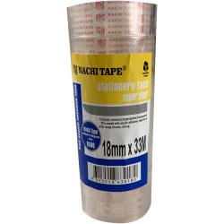 Nachi Stationery Tape 630 Transparent 18mmx33m Pack of 8