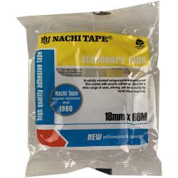 Nachi Stationery Tape 620 Transparent 18mmx66m Pack of 8