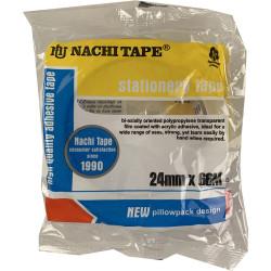 Nachi Stationery Tape 620 Transparent 24mmx66m Pack of 6