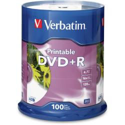 DVD+R 4.7GB White Inkjet Printable 100 VERBATIM SP100