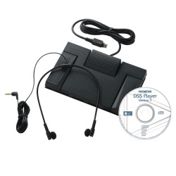 OLYMPUS AS2400 TRANSCRIBE KIT C/W Headset & Foot Control