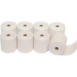 MARBIG CALC/REGISTER ROLLS 76x76x11.5mm 1Ply Lint Free PACK OF 4