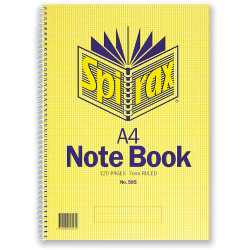 A4 595 SPIRAX NOTEBOOK 120 PAGE 56058