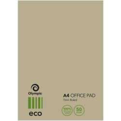 A4 TUDOR ECO RANGE OFFICE PADS WITH COVER 141042