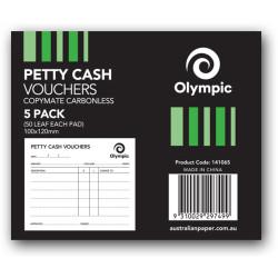 PETTY CASH VOUCHER PAD TUDOR 141065 50 LEAF 100X120 PKT5