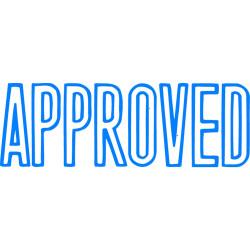 XSTAMP APPROVED 1008 BLUE INK