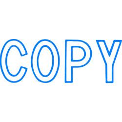 XSTAMPER CX-B COPY BLUE 1006