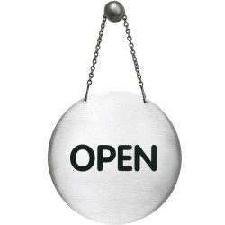 DURABLE PICTOGRAM SIGN Sign Open/Closed & Chain 130mm
