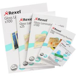 REXEL LAMINATING POUCHES A4 100 mic Pk100