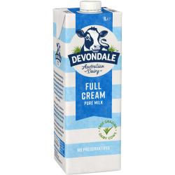 DEVONDALE UHT MILK Full Cream 1Litre Pack of 10