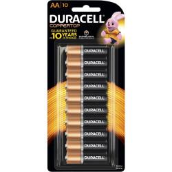 DURACELL ALKALINE BATTERY CARD AA 10/Card PK10