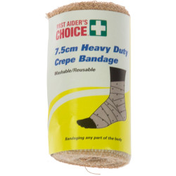 TRAFALGAR H/DUTY CREPE BANDAGE FAC Heavy Crepe Bandage W7.5cm