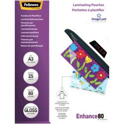 Fellowes® Laminating Pouches A3 80 Micron